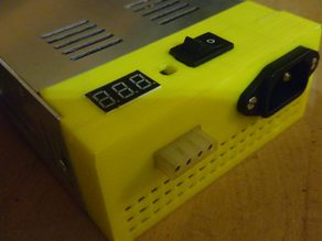 Power Supply cover with voltmeter