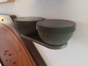 Go or Crokinole shelf + bowls