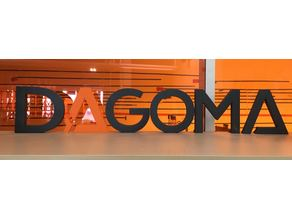 DAGOMA (lettres - letters & keychain)