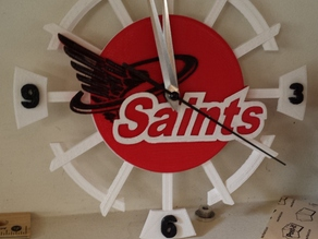 School Logo Clock