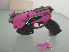 D.Va Pistol Overwatch Hollowed for Leds
