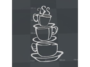 coffee cups silhouette
