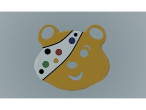 PUDSEY BEAR FACE MASK or WEARABLE THING