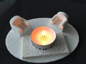 tealight candle holder / porte chauffe plat