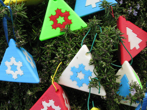 Tetrahedral Christmas Ornaments