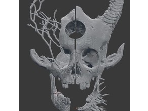 Hunted Demon Skull