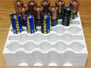 AA 23 Battery holder for desk or wall mount.