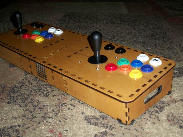 Laser Cut Mame Arcade Console - Raspberry Pi by