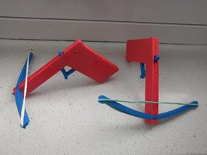 Rubberband Crossbow - Easy Assembly and Compact
