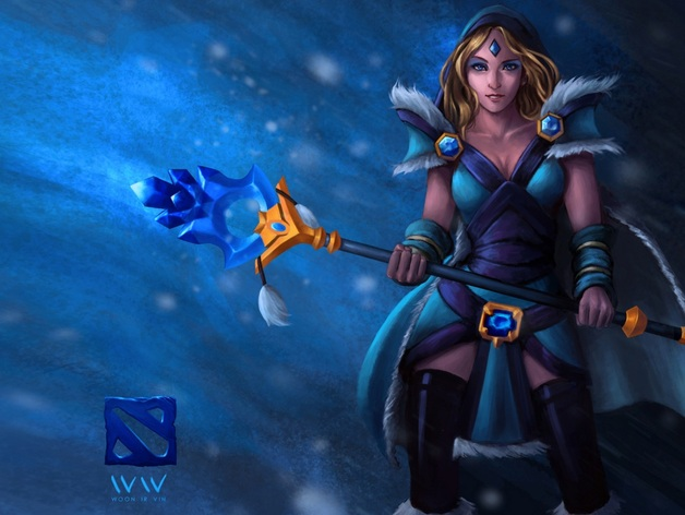 dota 2 crystal maiden cosplay prop by south2012 thingiverse