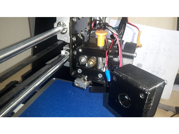 Anet A8 Extruder Fan Modification (remix with switch) by