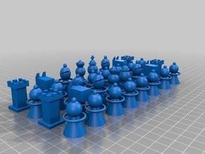 Modernist Chess Pieces