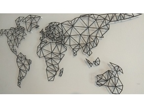 world map (triangular)