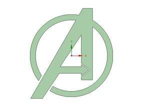 Avengers logo/cookie cutter