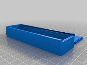 Box with Sliding Top 127x38x20 single