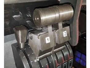 Airbus A320 dual lever throttle with reverse blocker for Saitek throttle quadrant