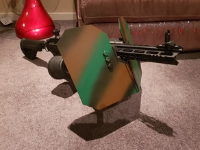 Airsoft rail mounted shield ARMS
