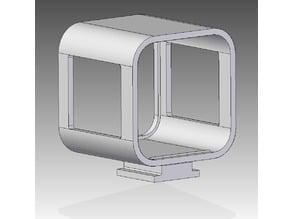 GoPro Session housing with HotShoe mount (+V2)