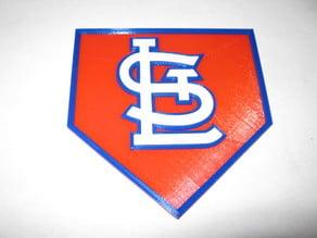 ST Louis Cardinals home plate logo