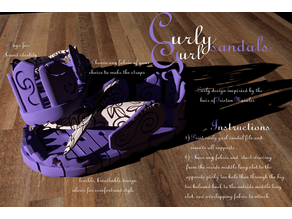 The Curly Gurl Sandals