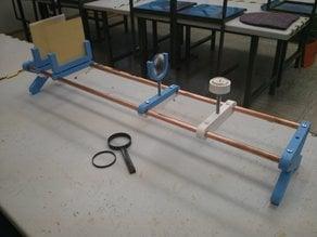 Optical lens experiment - optical bench