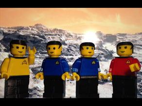 Star Trek Giant Minifigs:  Kirk, Spock, McCoy, and Scotty