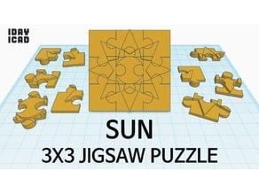 [1DAY_1CAD] 3X3 JIGSAW PUZZLE SUN