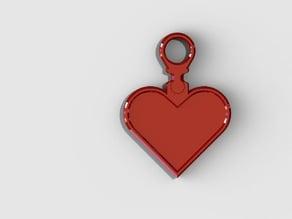 valentine's heart keychain