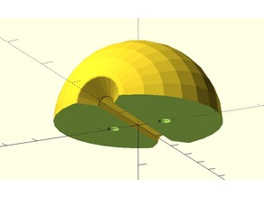 Paraglider Sphere Toggle Half