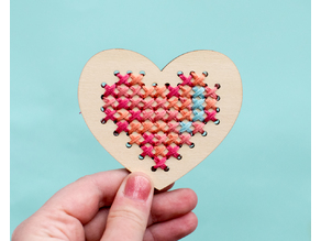 Laser Cut Embroidered Heart