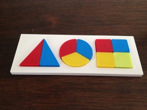 Color / Shape / Fraction Puzzle