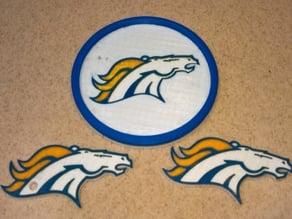 Denver Broncos Coaster & Keychain Logo