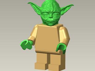 Giant Lego Yoda