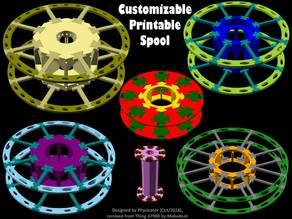 Customizable Printable Spool for Filaments