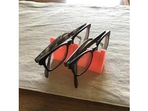 2-slot glasses rack