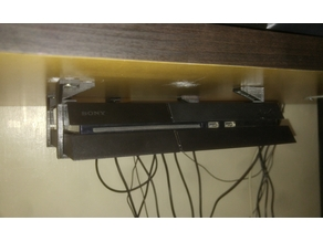 PS4 Under Desk Mount with Screw Holes and Backstop v1.02