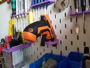 Glue Gun holder for IKEA SKÅDIS pegboard