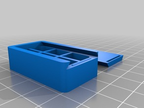Pill Box with 6 cells and Sliding Top