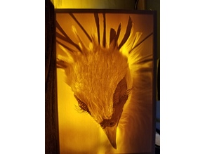 Secretary Bird Lithophane