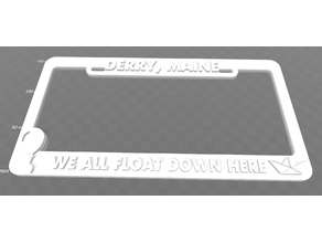 Derry, Maine - We all float down here, license plate frame (It)