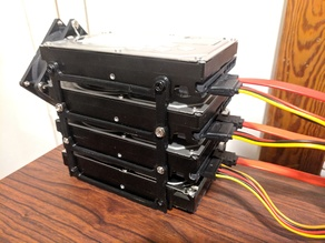 Modular hdd rack stackable 3.5 hard drive bracket