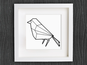 Customizable Origami Robin Redbreast