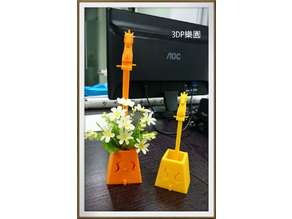 Morin khuur flower pot (Horse head fiddle flower pot )馬頭琴花盆