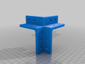 Tank3D Triple corner 20x20 aluminum extrusion