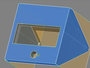 Printrbot LCD Housing and Knob for Simple Metal