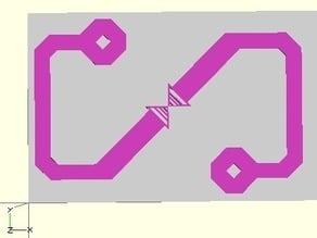 CPU sign in Openscad (OV chipkaart)