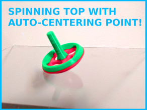 SPINNING TOP WITH AUTO-CENTERING NUB