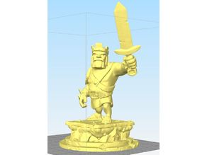 Barbarian King Statue - coc - clash of clans