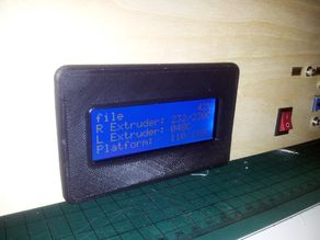 Flashforge/CTC LCD cover
