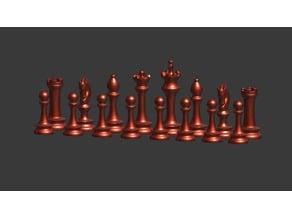 Tall chess set